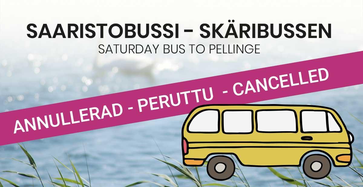 Skäribussen annullerad Saaristobussi peruttu